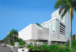 An exterior rendering of the Residence Inn Miami Sunny Isles Beach