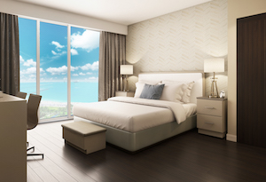 Luxury King Guest Room at the Residence Inn Miami Sunny Isles Beach