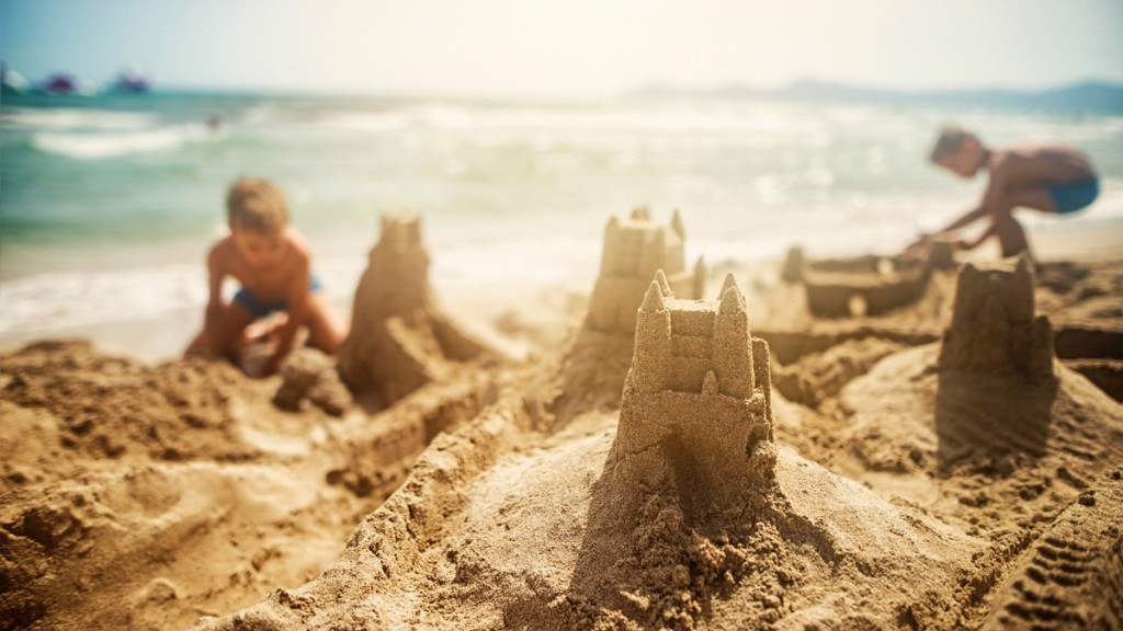 Sandcastle on the beach
