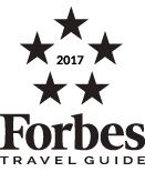Acqualina receives a five star award from Forbes Travel Guide.