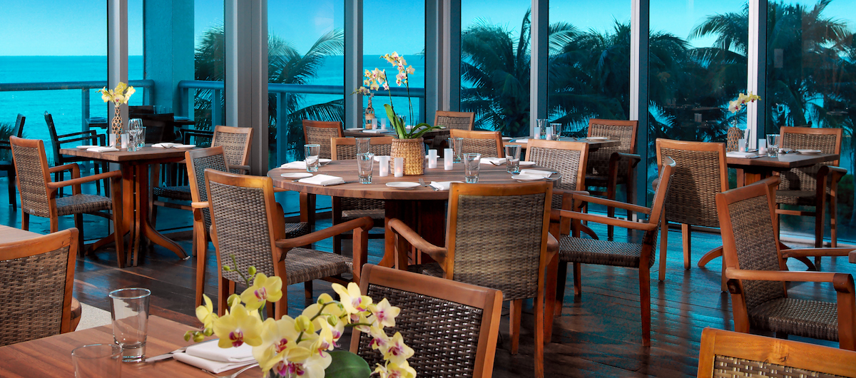 Sole on the Ocean Fresh American Bistro with table set up