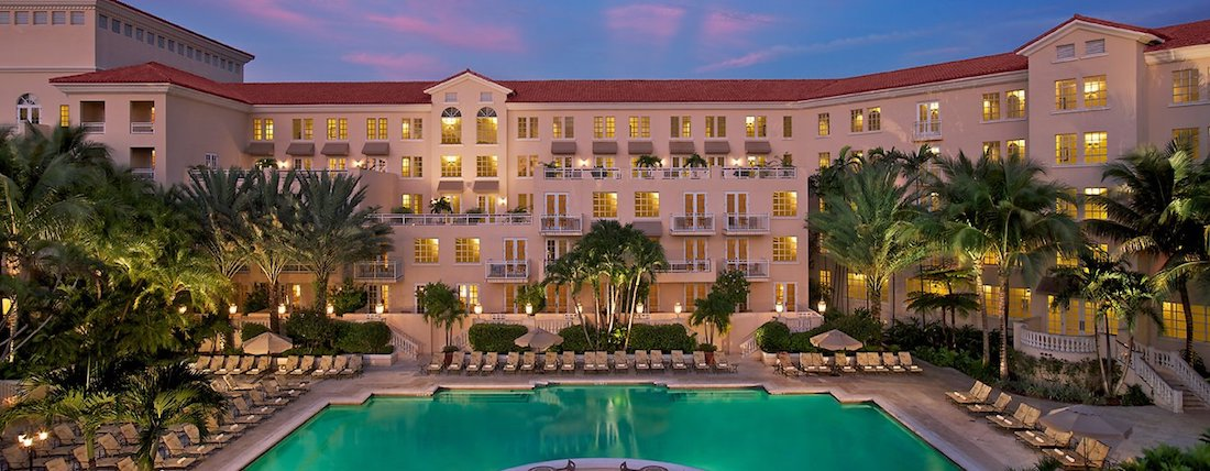 Front view of the Turnberry Isle Miami Resort.