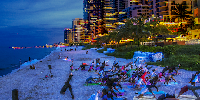 Full Moon Yoga on the Beach in Sunny Isles Beach