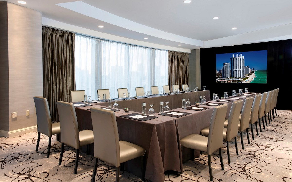 Meeting room at the Trump International Beach Resort