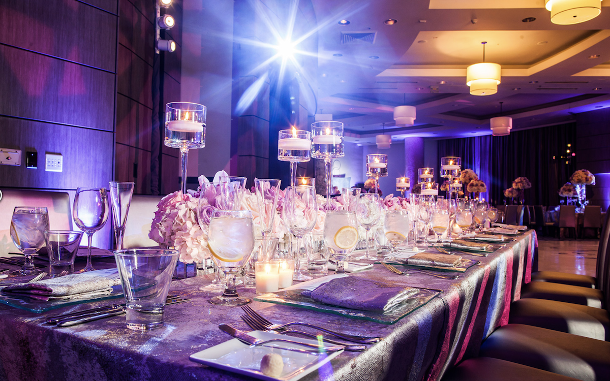 Wedding or Party dining set up