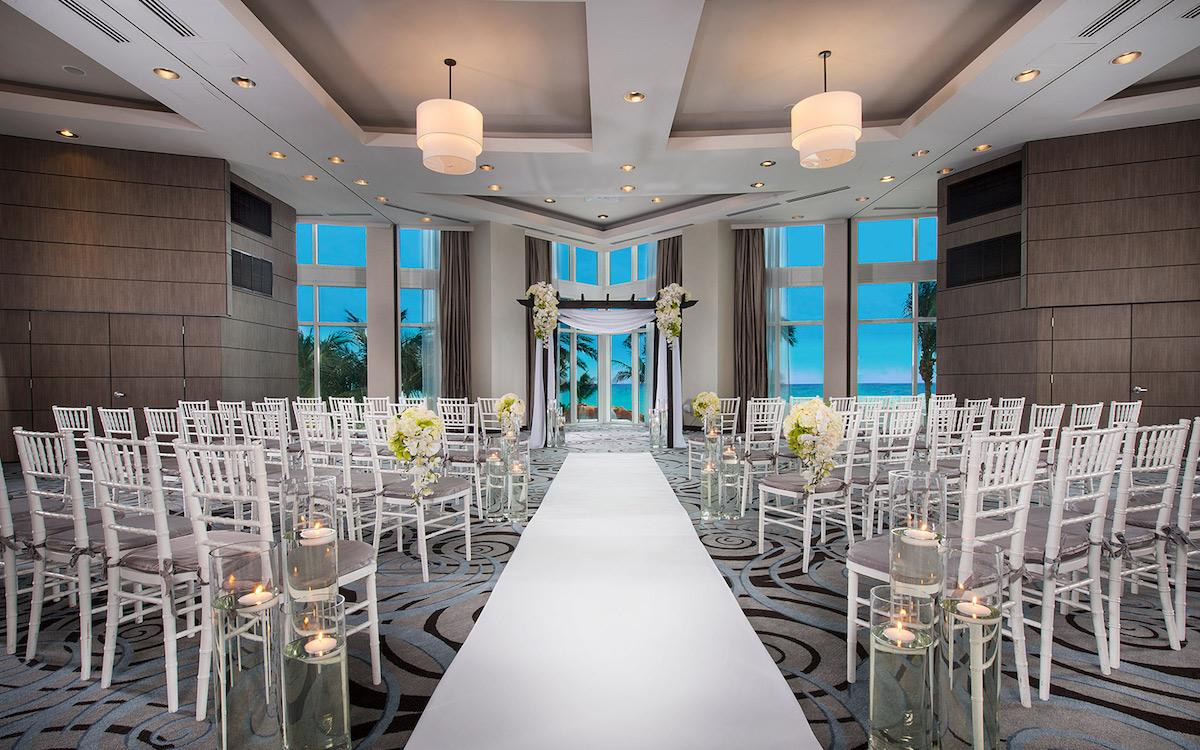 Wedding setting at the Trump International Beach Resort