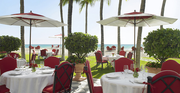 Costa Grill outdoor dining at Acqualina