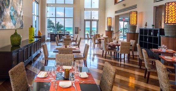 Dining room at Caracol Restaurant at Marenas Beach Resort