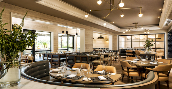 Corsair restaurant dining room at Turnberry Isle Miami