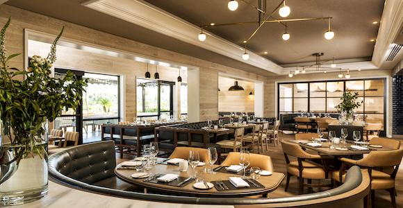 Corsair restaurant dining room at Turnberry Isle Miami