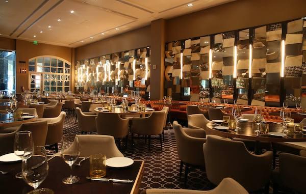 Bourbon Steak Miami Restaurant seating