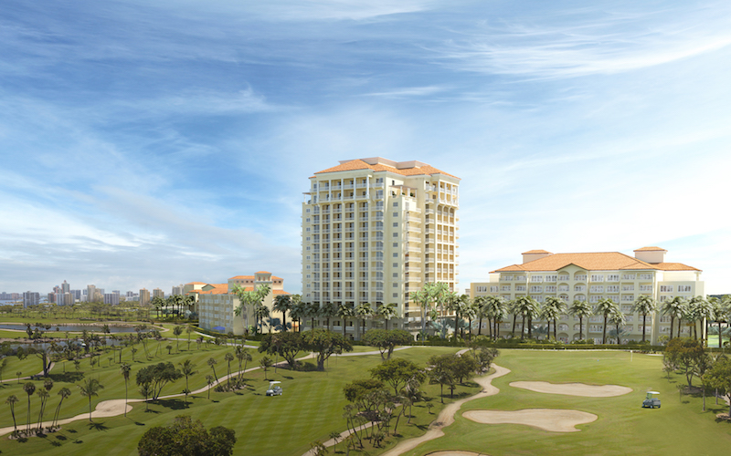 Turnberry Isle Miami Resort and view of the golf course