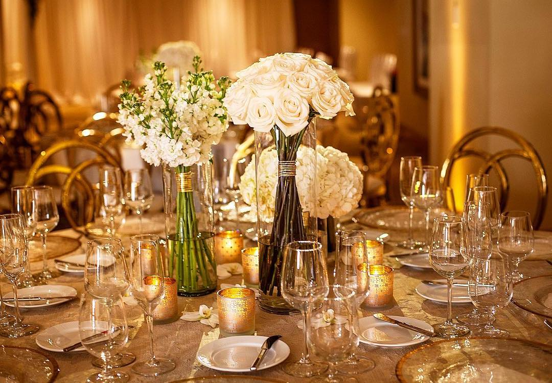 Table setting for Acqualina Resort & Spa