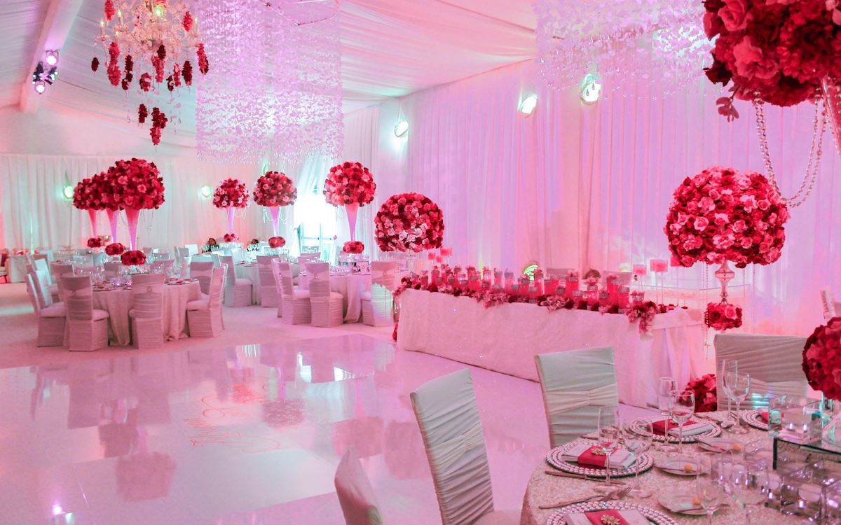 Room set up for Wedding at Acqualina Resort & Spa