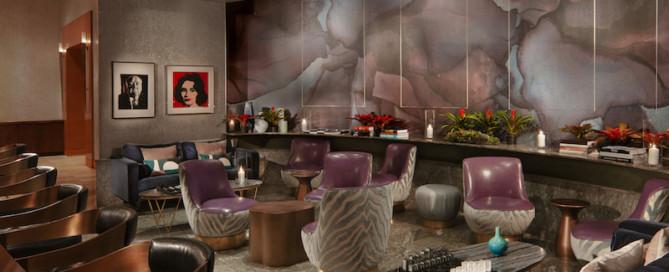 AQ Bar Lounge set up for dinner at Acqualina Resort & Spa