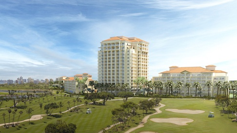 Turnberry Isle Miami Golf Course and hotel building