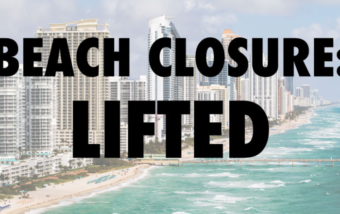 Beach Closure Lifted