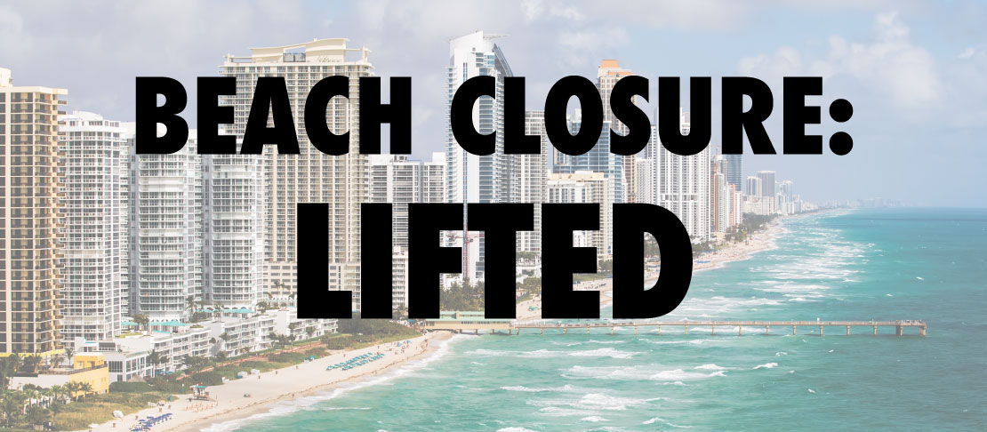 Beach Closure Lifted