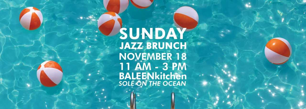 Jazz on the Beach. November 15, 8 to 11 pm. Tony Roma's, 18050 Collins Ave. Live music by Cesar.