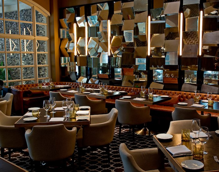 Dining area at Bourbon Steak at Turnberry Isle Miami