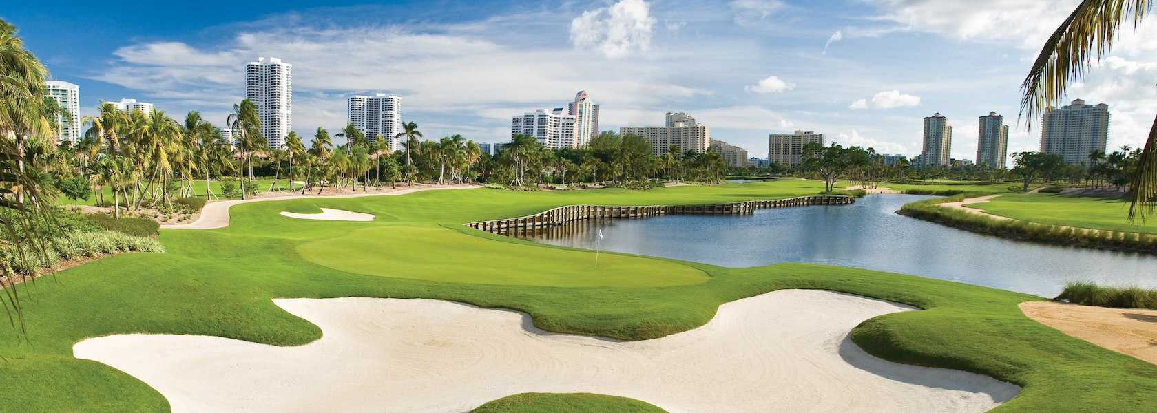 Hole 11 green at Golf Course JW Marriott Turnberry Isle Miami