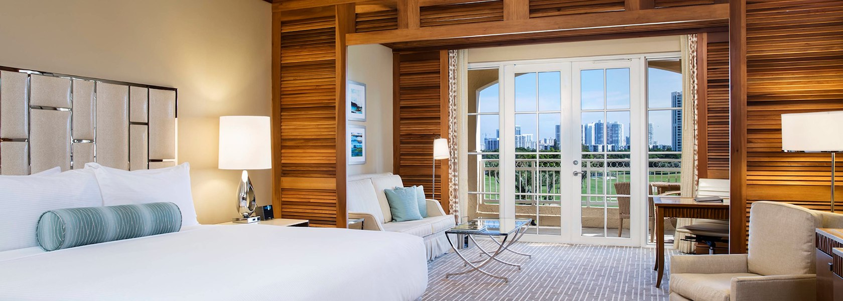 Junior King Suite Golf View room at JW Marriott Turnberry Isle Miami