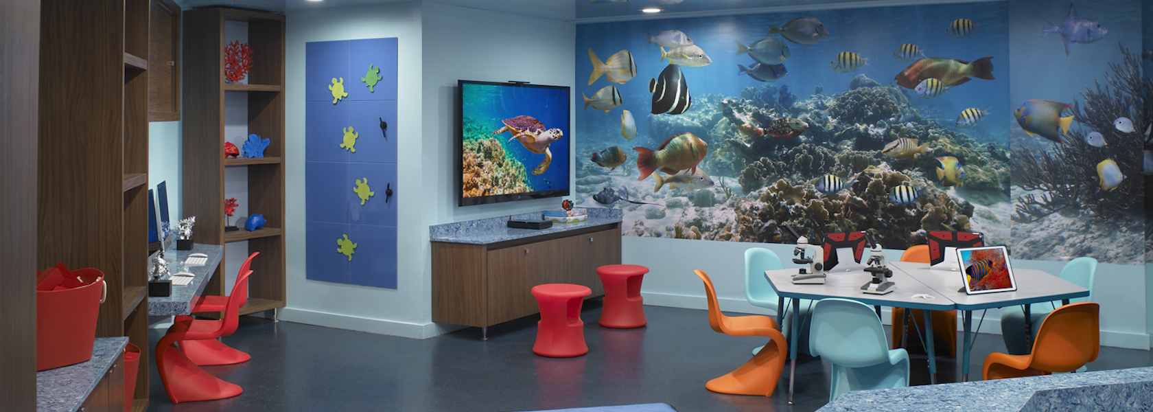 Acquamarine Children's Room at Acqualina with marine and science kids items.