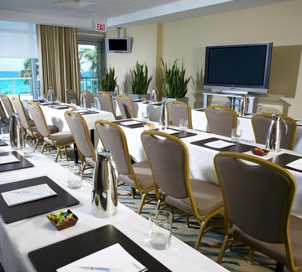 Marenas Meeting Room overlooking the ocean