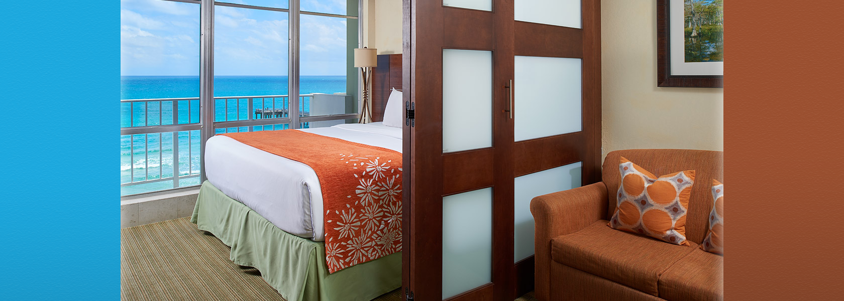 Suite at the Newport Beachside Hotel with view of the ocean