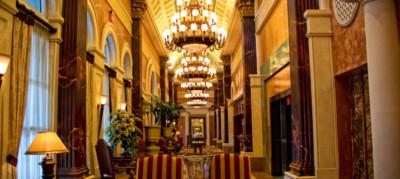 Luxury lobby at Acqualina Resort & Spa