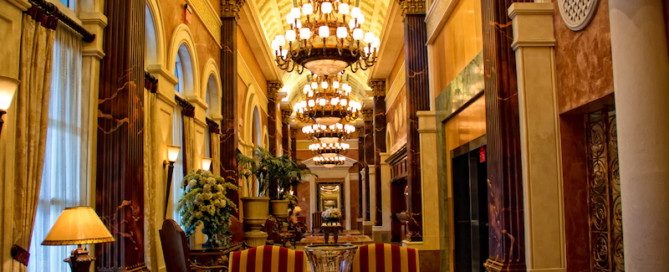 Luxury lobby at Acqualina Resort & Spa