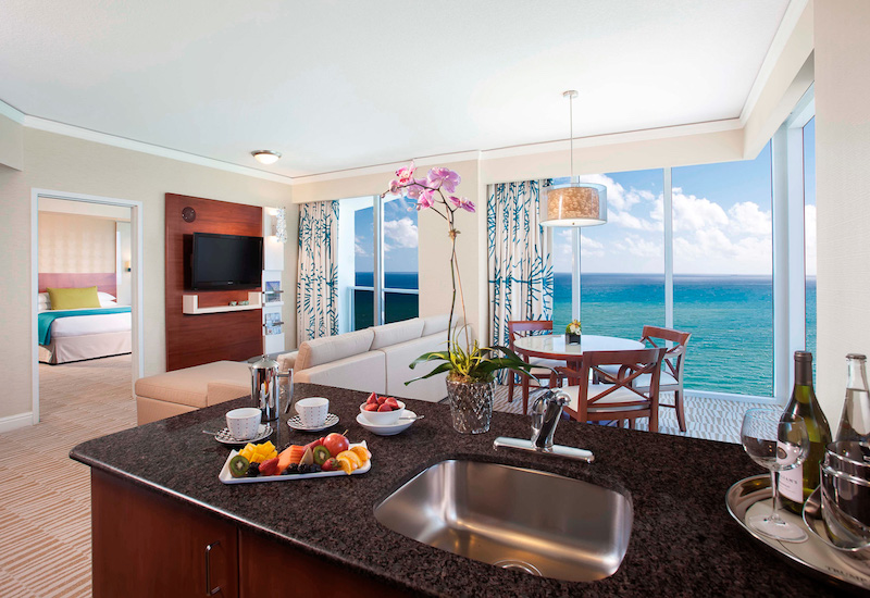 Luxury suite at Trump International Beach Resort