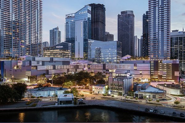 Evening view of Brickell City Centre