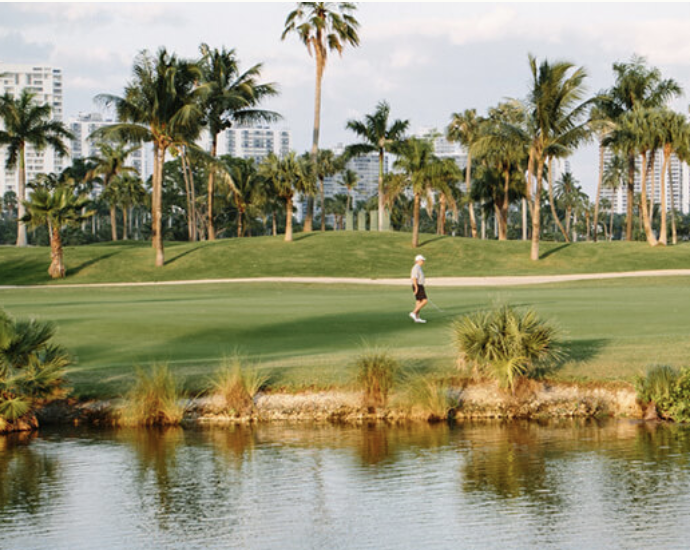 Golfers on the Soffer Golf Course at JW Marriott Turnberry Miami