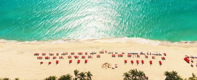 Acqualina Resort aerial