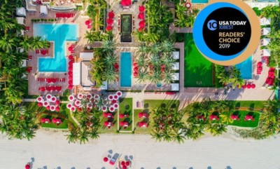 Acqualina Resort & Spa view from above. Winner of USA Today's 10Best Readers' Choice Awards.