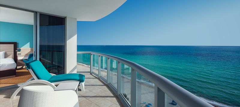 Balcony view of ocean at Marenas Beach Resort