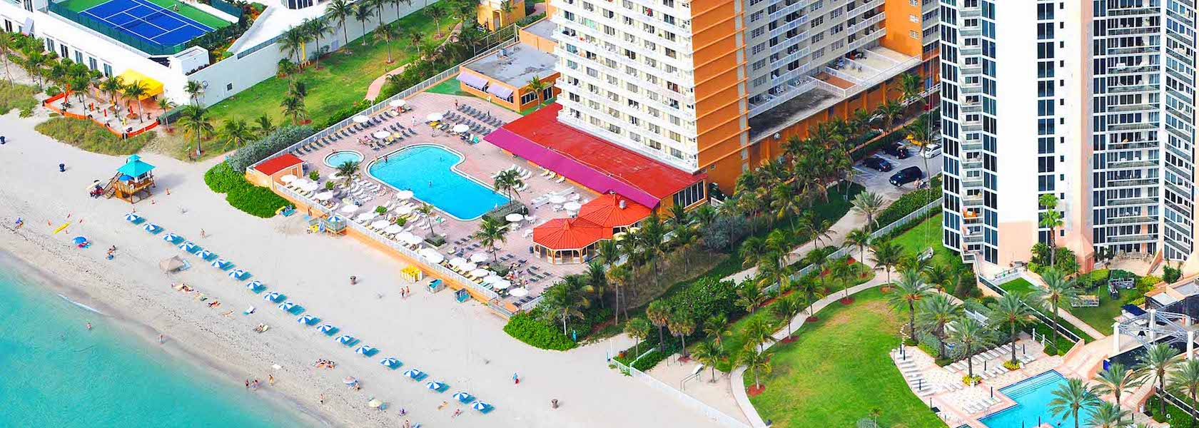 Aerial view of Marco Polo Beach Resort property