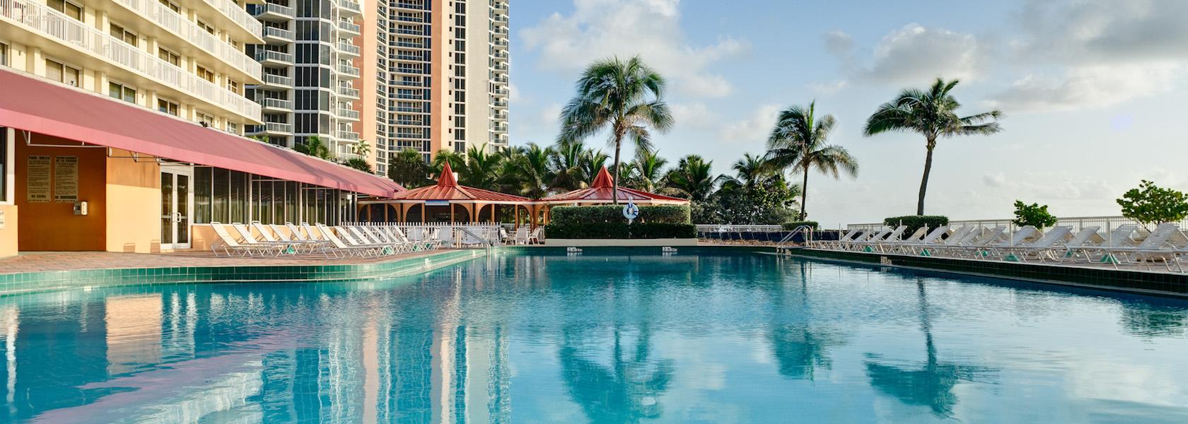Beachside pool at Marco Polo Beach Resort