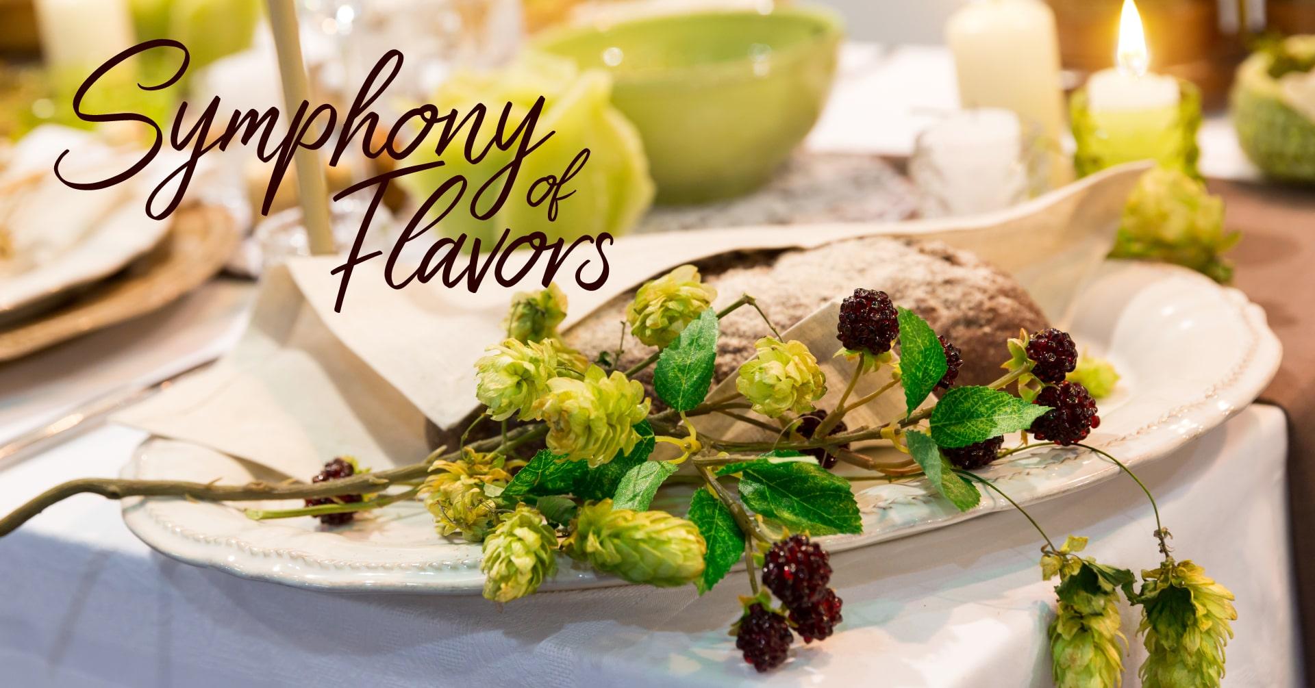 Symphony of Flavors. Elegant table setting.