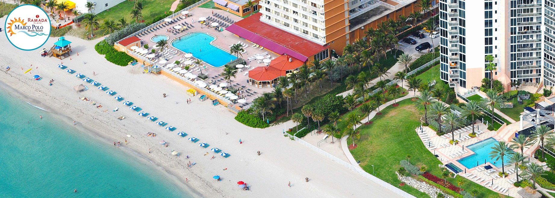 Aerial view of Marco Polo Beach Resort