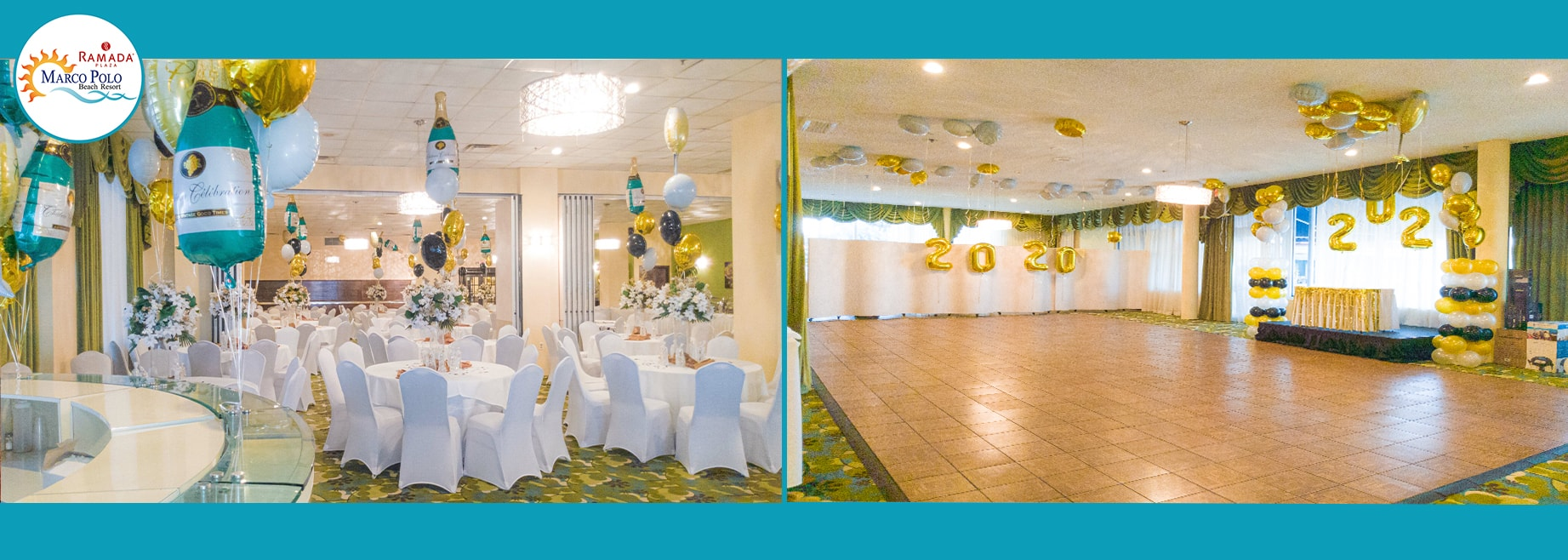 Wedding set up at Marco Polo Beach Resort