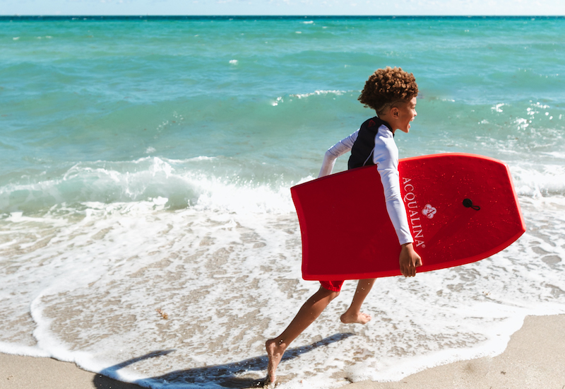 Child with Acqualina boogie board