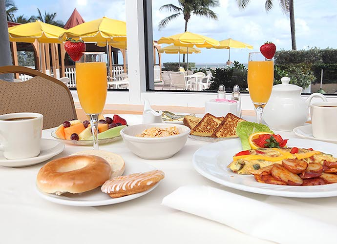 Breakfast spread at Marco Polo Beach Resort