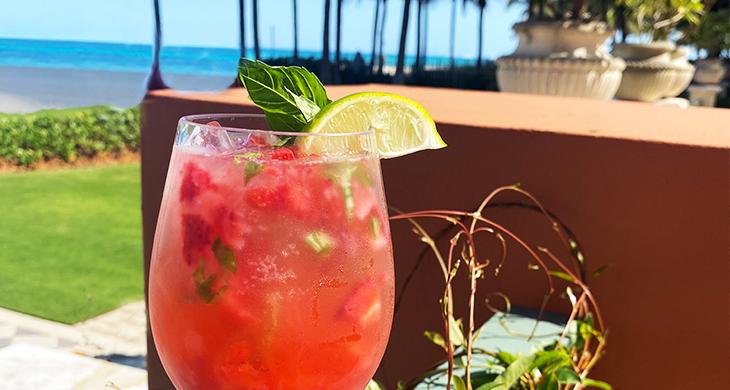 Basil Strawberry Margarita