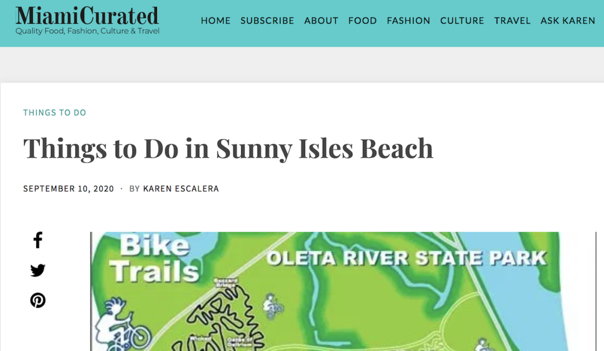 Sunny Isles Beach Featured in Miami Curated