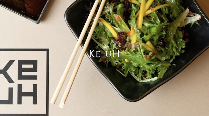 Sushi on plate. Keuh