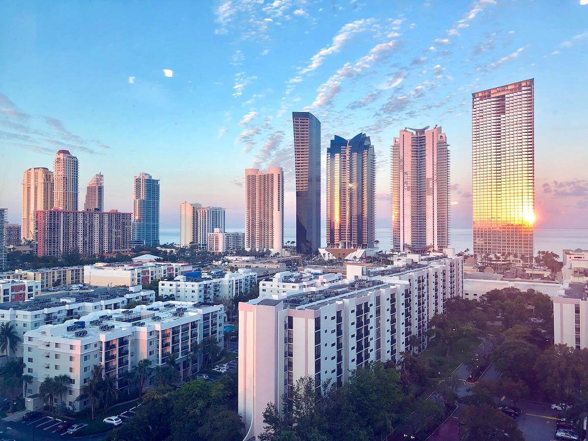 City skyline view