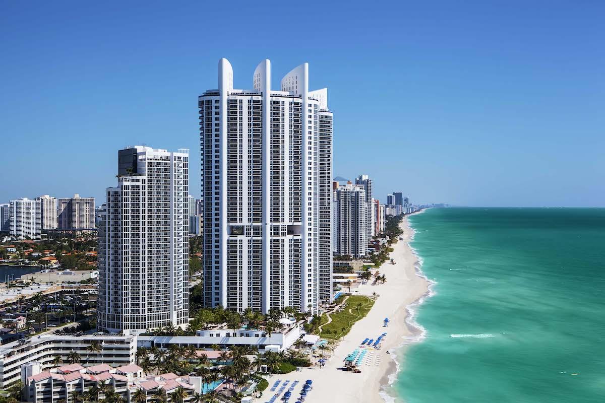 Coastline with view of Trump International Beach Resort
