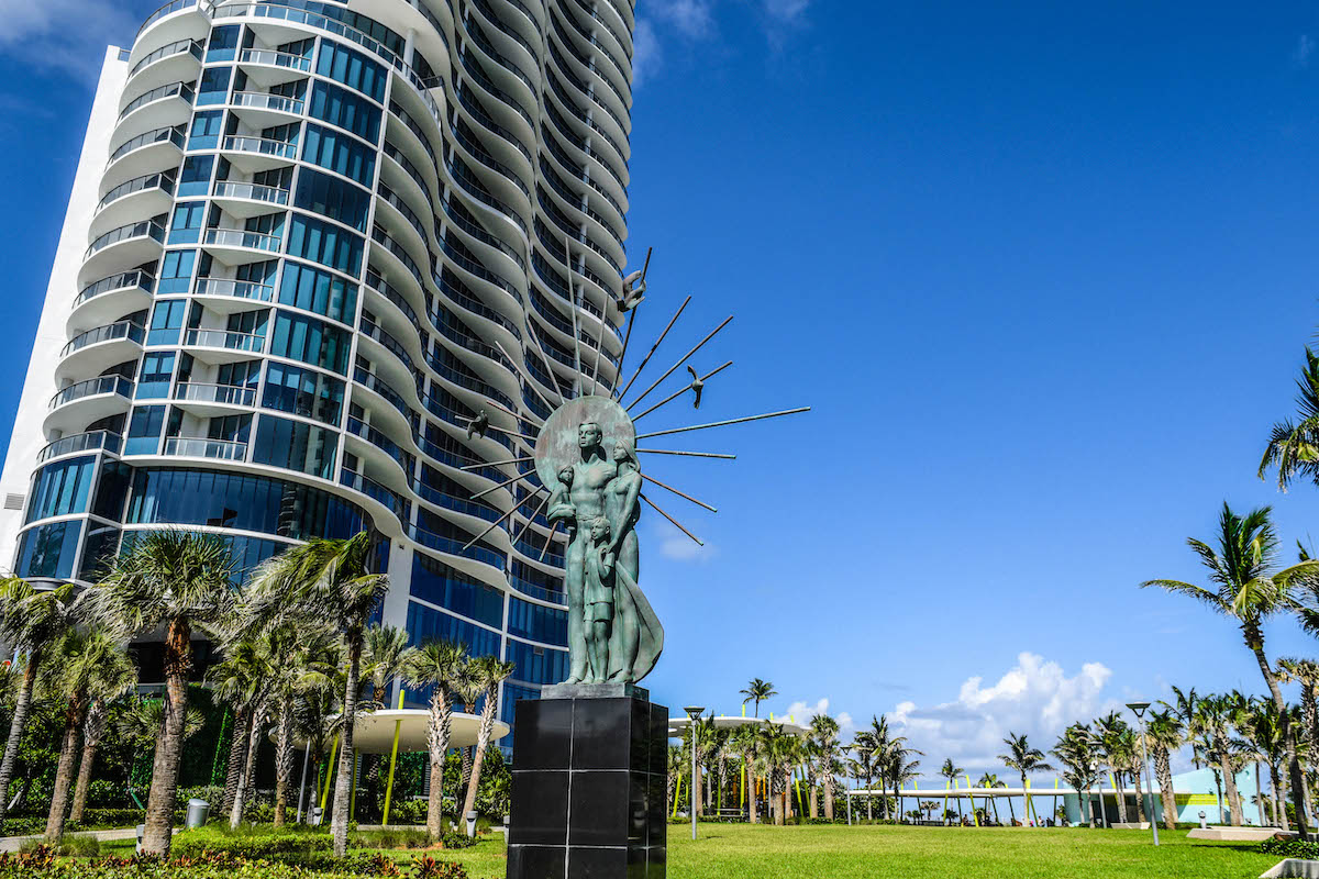 Statue of the Family at Samson Oceanfront Park.
